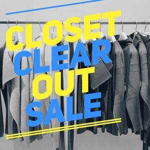 Closet clear out sale ‼️‼️‼️